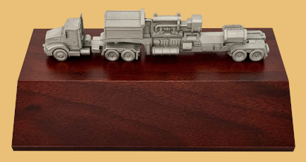 Oilfield oil and gas gift frac rig truck award with personalized engraving