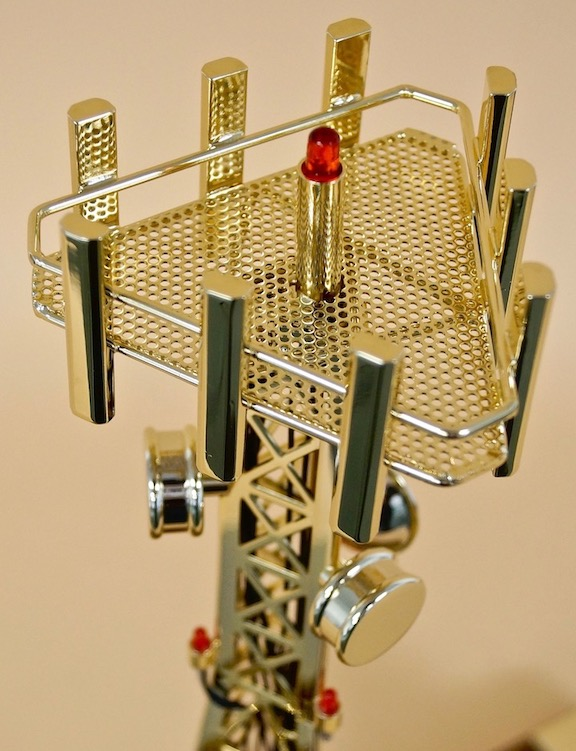 Personalized cell tower gift award idea for employees