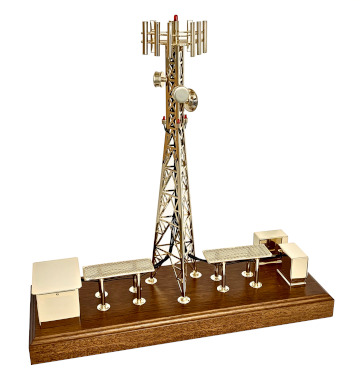 Personalized cell tower Christmas gifts gold telecom model plaque