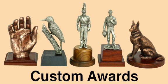 Custom hand made trophies gifts and awards made in USA