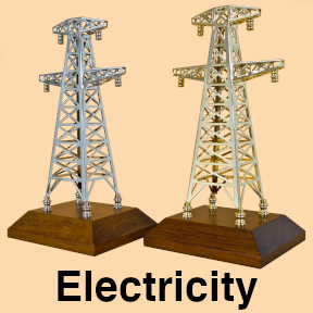Gifts for electricians electric transmission tower models and awards