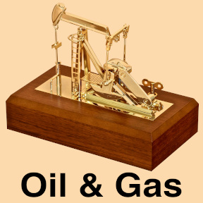 Oil and gas oilfield gifts ideas gold plated oil well pump jack model award deal toy