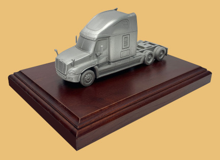 Million mile truck driver award semi cab model
