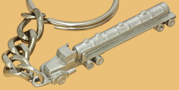 oilfield vacuum semi trailer rig keychain collectible promotional handout