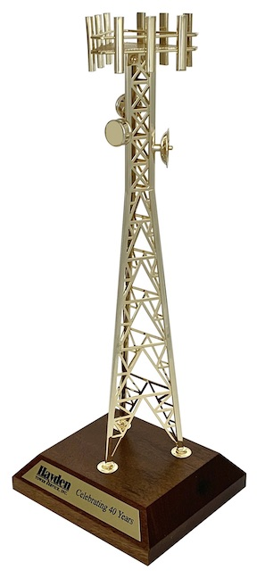 Executive cell tower merchandise gift awards model for telecommunications cellular industry.