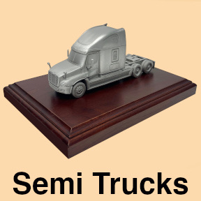 Truckers gifts for truck drivers safe driver award pewter model semi tractor