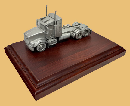 Safe truck driver service recognition trophy
